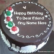 chocolate cake for brother birthday with name