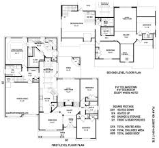 5 bedroom house plans first and second level floor home interior