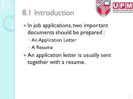 Resume In Job Application by Bbi 3415 Professional Writing Units 7 10 Assoc Prof Dr Ppt
