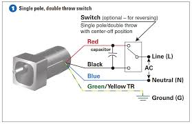 how to connect a reversing switch to a 3 or 4 wire psc