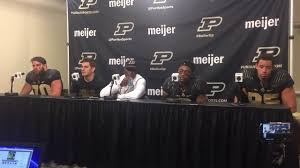 Football Conference Table Purdue Football Post Game Press Conference Vs Iowa 10 15 16 Youtube