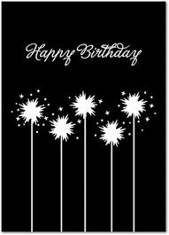 birthday sparklers card invitation design ideas black greeting cards rectangle