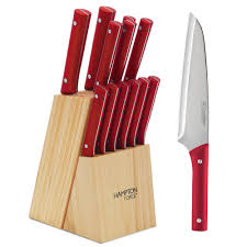 Red Kitchen Knives by Hampton Forge Genesis 13 Piece Knife Set Hmc01b149s The Home Depot