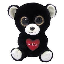 ty beanie boos frankfurt bear glitter eyes regular size