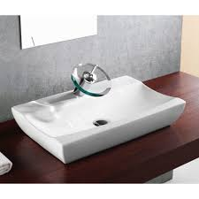 porcelain ceramic single hole countertop bathroom vessel sink 25