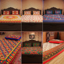 incredible home pack of 6 pure cotton rajasthani bedsheets bed