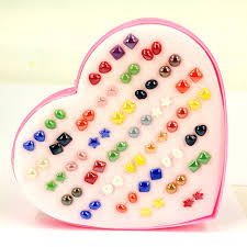 earring stud set handmade 36pairs resin earring stud sets for women lovely earring