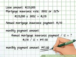 Estimate Mortgage Loan Approval by How To Calculate Mortgage Insurance Pmi 9 Steps With Pictures