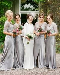 silver wedding dresses for brides best 25 grey bridesmaid gowns ideas on grey blue
