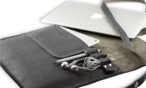 tox valer macbook case document case clutch gray new