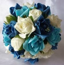 teal flowers teal wedding flowers