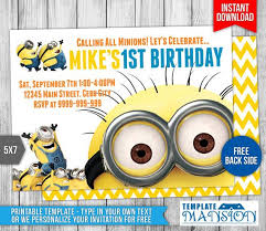 diy minion invitations 12 best minions birthday invitations instant diy