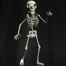 Animated Halloween Skeleton by 3d Model Cartoon Skeleton Rigged Cgtrader