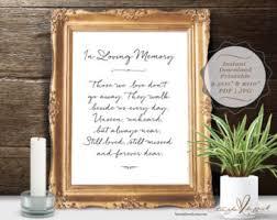 in loving memory items wedding memorial etsy