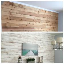 white cedar plank ceiling washed wood wall made from fence boards
