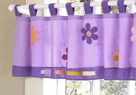 purple window valance for girls daisies flowers tab top