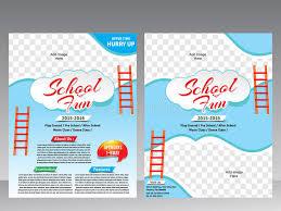 play school brochure templates school flyer magazine design template stock vector