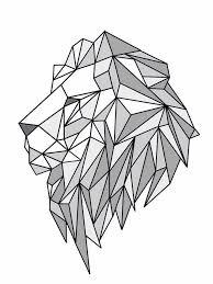 best 25 geometric lion ideas on pinterest geometric lion tattoo