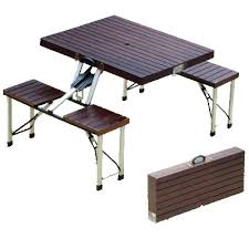 folding cing picnic table the new folding tables and chairs pertaining to home ideas