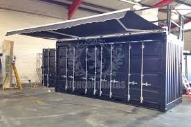 shipping container awning lion containers ltd