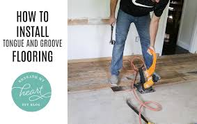 how to install tongue and groove flooring beneath my