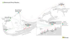 Bermuda World Map Bermuda Ferry Routes Bermuda Blog Yabsta