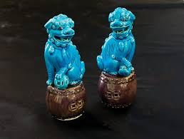 turquoise foo dogs for sale turquoise foo dog figurines ark antiques la jolla ca