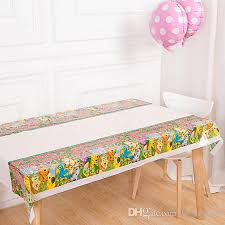 party table covers color birthday party table cloth disposable waterproof oilproof