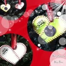 softball ornament clear plastic ornament green acrylic