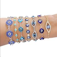 eye gold bracelet images Evil eye gold thin chain bracelet blue arm candy adjustable from jpg