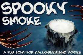 spooky smoke halloween u0026 twisted font font bundles