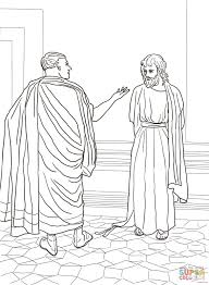 jesus and pilate coloring page free printable coloring pages