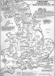 Map Of Britain A Large Scale Map Of Britain Up To Edinburgh In The Reign Of