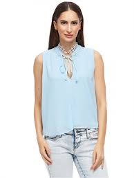 blouse for tfnc light blue v neck blouse for price review and