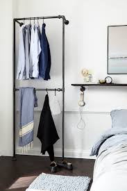 stable clothes rack made of water pipes industrial design