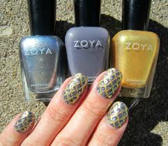 concrete and nail polish dragon scale nails with zoya