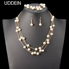 aliexpress pearl necklace images Uddein nigerian wedding indian jewelry sets simulated pearl jpg