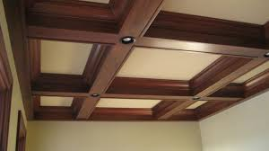 Ideas For Drop Ceilings In Basements Coffered Ceiling Designs Coffered Ceilings Are False Beams In