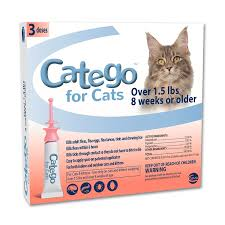 amazon com catego flea and tick control for cats 3 pack 1 5