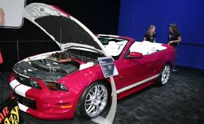 a pink mustang nine customized mustangs headed to ford s display at sema