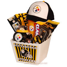 gifts for steelers fans pittsburgh steelers deluxe gift basket baskets and care packages
