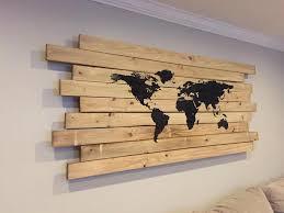 Wall Art World Map by Vinyl Wall Art Decal Sticker World Map From Stickerbrand