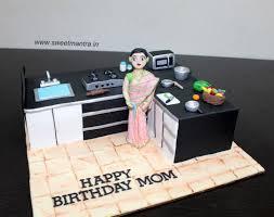 3d designer kitchen shaped cooking theme 3d designer fondant cake with 3d