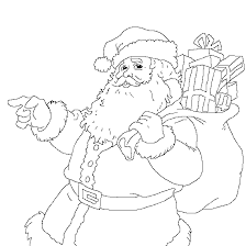 merry christmas with santa claus christmas coloring to print