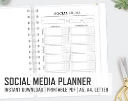 social media planner a4 a5 letter weekly planner blog post