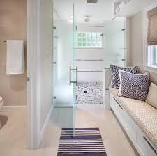 pebble stone flooring bathroom u2014 novalinea bagni interior