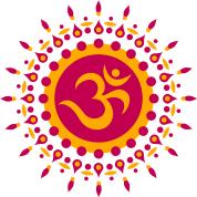 om symbol mandala flower sun meditation t shirt