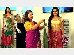 Fish Style Saree Draping Lehenga Style Saree Draping Saree Draping By Dolly Jain Navya