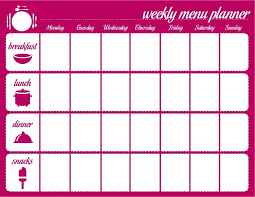daily menu planner template cvletter csat co