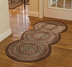 Primitive Kitchen Rugs New Country Primitive Red Green Tan Triple Circle Braided Floor